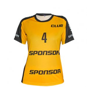 SS JERSEY HANDBALL WOMEN SIDE INSERTS ROUND COLLAR