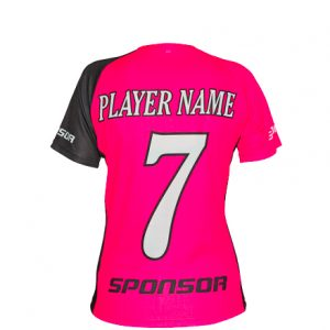 SS JERSEY HANDBALL WOMEN SIDE INSERTS V-COLLAR